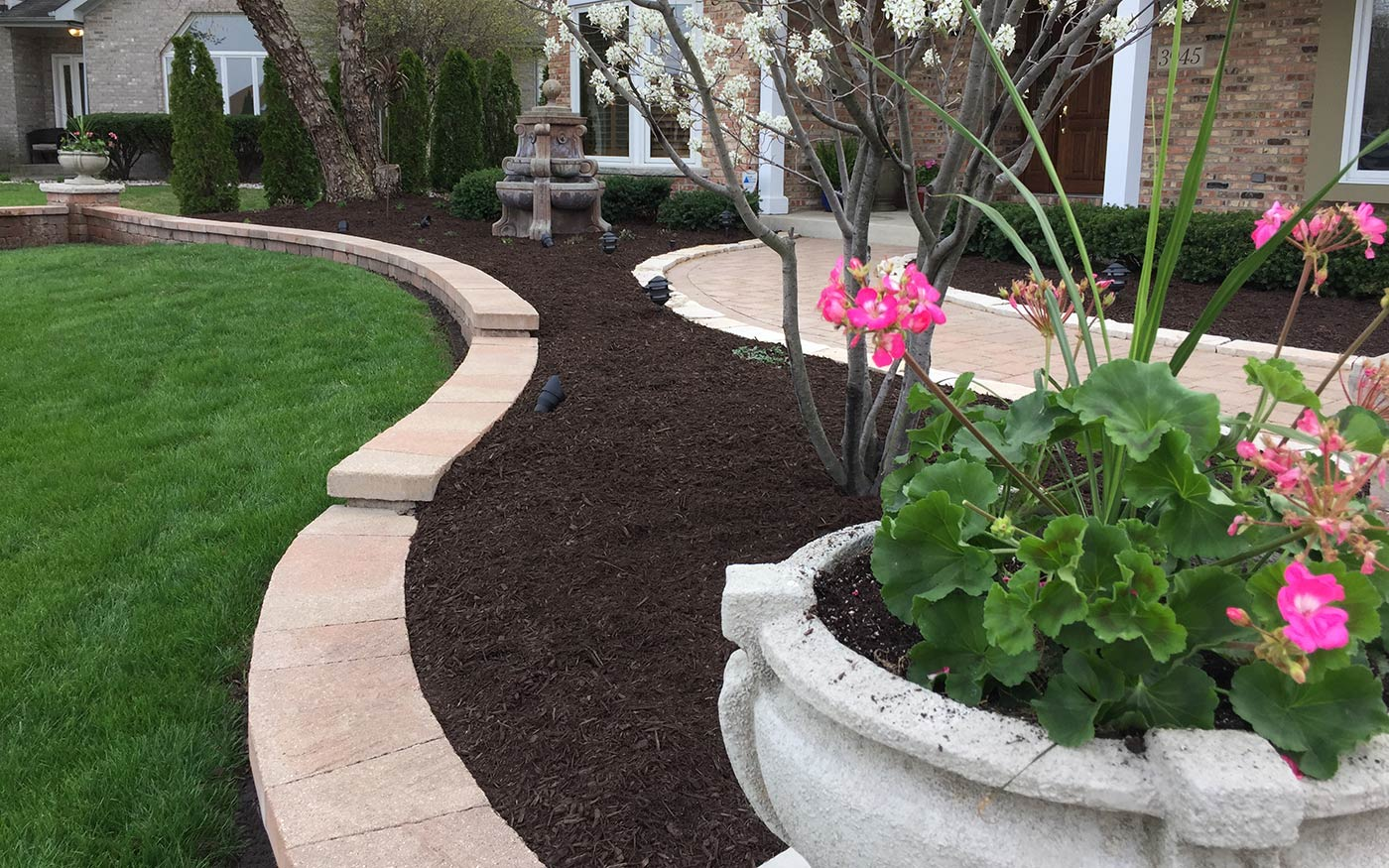 Image result for mulch installation